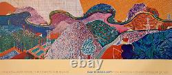 Rare 1980 David Hockney Original Collotype Print Lacma Poster Mulholland Drive