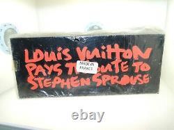Rare Authentic Brand New Black Louis Vuitton X Stephen Sprouse Tribute Art Block