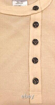 Rare Chanel 09a Ecru Cashmere Imperial Buttons Top Shirt For Jacket 38 New