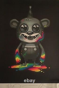 Rare Clandestine Industries Death of Neon Poster Print Pete Wentz Fall Out Boy