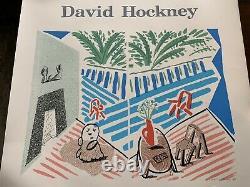 Rare David Hockney 1989 Exhibition Art Poster Living Room & Terrace -Santa Ana