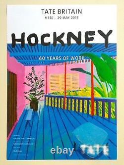 Rare David Hockney Lithograph Print 60 Years Of Work Tate Museum Exhbt Poster