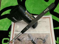 Rare Scotty Cameron The Art Of Putting Newport Two Black Putter 35 COA MINTY
