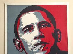 Rare Shepard Fairey Obama Hope 2008 Dnc Campaign Original Litho Print Poster