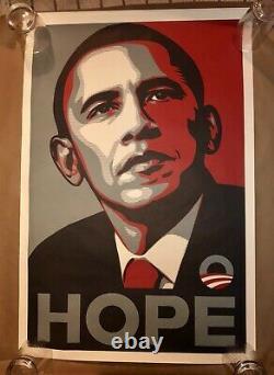 Rare Shepard Fairey Obama Hope 2008 Dnc Campaign Original Print Poster Rare