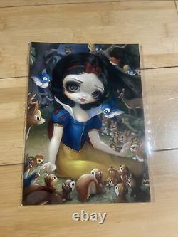 Rare Snow White In The Forest Jasmine Becket Griffith Postcard Wonderground Art