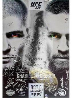 Rare UFC 229 Signed Poster Conor McGregor Vs Khabib Nurmagdomedov