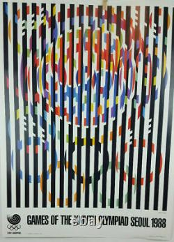 Rare and Vintage 1988 Seoul Olympic Posters Set of 9