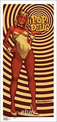Rockin' Jelly Bean POP-DELIC GIRL Silk Screen Print Poster RJB RARE JP