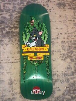 SCREEN PRINTED Almost Tom & Jerry Daewon Song Skateboard Deck Natas Spoof Rare