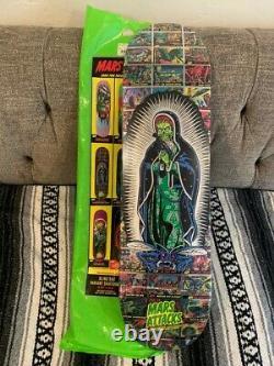 Santa Cruz x Mars Attacks Devine Heritage Skateboard Deck rare BEST ONE