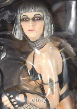 Sorayama 3d Art 1/6 Silver Bobbed Replica Resin Quality Pvc Statue New Rare Oop