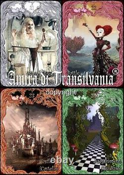 Tarot Alice in Wonderland art card deck rare edition original handmade in Italy