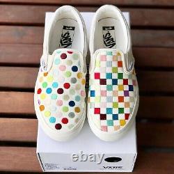 Vans Damien Hirst Palms Vault Slip Ons Polka Dots Checkerboard Sz 9 Rare Art