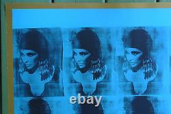 WARHOLElizabeth TaylorBLUE LIZ AS CLEOPATRA 1963 MOMA Film Poster 27x38 RARE