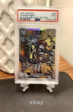 WarGreymon Alt Art BT2-065 Super Rare Digimon Card Game 2020 V1.0 PSA 9