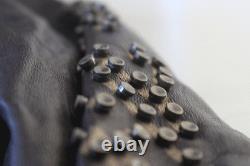 Women Rare Ed Hardy Leather Jacket Love Kills Slowly Xs-2xl