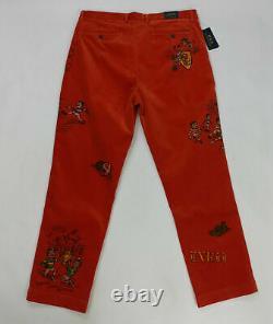 $198 Rare Polo Ralph Lauren Men Corduroy Pants 30x30 36x32 Vintage Graphics