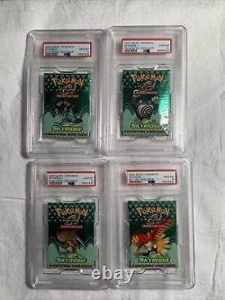 4x Pokemon Skyridge Psa 10 Packs Wotc Gem Mint Ensemble Plein Art Wizards Coast Rare