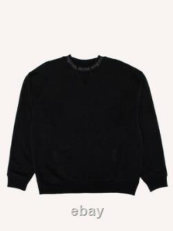 Acne Studios Flogho Crewneck Sweatshirt Brand New Black Us XL Rare Size Pfw