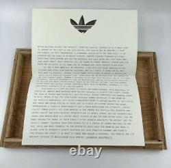Adidas Très Rare Art Ad Célébrer Originalité Wood Box Posters 2006 Sneaker