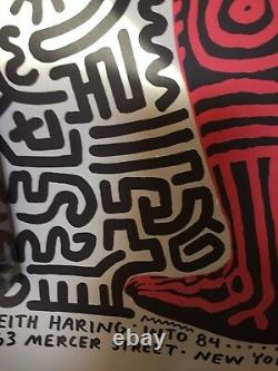 Affiche De La Rue Ny De Haring Keith 1984 Rare
