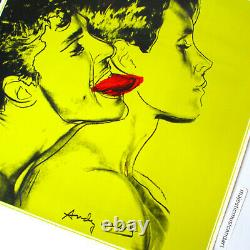 Affiche Originale Vintage Andy Warhol 1982 Rare