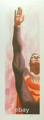 Alex Ross Rare Superman & Captaine Amérique Set Papier Giclee Signed New Framed