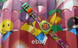 Amour, Paix Et Bonheur ! Colorful Swatch Art Work Par Micha Klein! Nib-rare