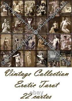 Antique Tarot Cartes Cartes De Jeu Rare Érotique Art Vintage Bordel Cartomancy Oracle