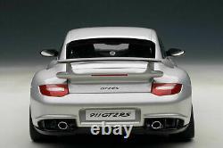 Autoart 1/18 Porsche 911 (997) Gt2 Rs Silver New Dans La Boîte 77961 Auto Art Rare