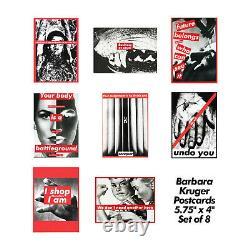 Barbara Kruger Cartes Postales D'art Imprimer Rares 80s Vintage Ensemble De 8