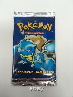 Base Set Unlimited Booster Pack Pokemon Cards Base Holo Blastoise Art Heavy