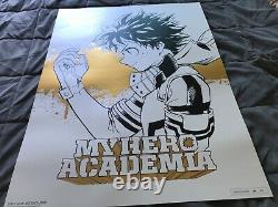 Boku No My Hero Academia Kohei Horikoshi Deku Art Print 2018 Sdcc Viz Media Rare