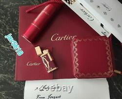 Cartier Lighter Logotype Bourgogne Nouvelle Rose Or, Bnib Ultra Rare, Art, Menthe