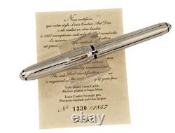 Cartier Louis Cartier Art Déco Platinum Blue Enamel Limited Edition 1847 Pièce