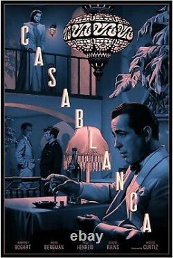 Casablanca De Rory Kurtz Screen Print Very Rare Ap Poster Art Mondo Film Bogart