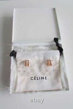 Celine Art Déco Boucles D'oreilles Octogonales Clear - Gold Fall'18 Phoebe Philo Nwt Rare