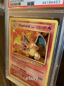 Charizard Holo Xy Evolutions 11/108 Psa 9 Mint Carte Pokémon De Base Og Rare Art