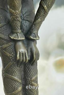Chiparus Signé Rare Bronze Sculpture Art Déco Danseur Chaud Cast Figurine Statue