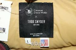 Crescent Down + Todd Snyder Hommes Multi Couleur Goose Down Parka Rare 1000 $ Nouveau L