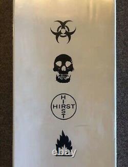 Damien Hirst X Supreme Spin Skateboard Logo Boîte Plate-forme Deck Skate Roulettes Rare
