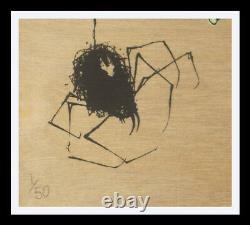 Greg Simkins Dinola Sdcc 2010 Impression Sur Wood Art S/n #1/50 Rare Dinosaur & Spider