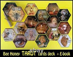 Honey Abeille Art Tarot Cartes Cartes Jeu Dire Fortune Raconter Rare Vintage Oracle Set