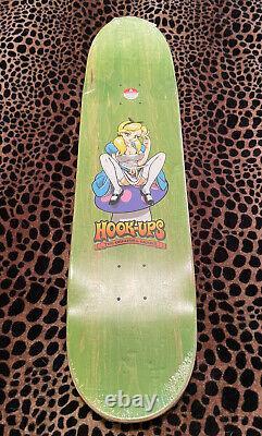Hook-ups Alice Skateboard Deck 8.0 Jeremy Klein J/k Industries Rare New Sealed