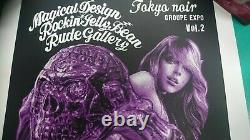 Jelly Bean Tokyo Noir Vol. 2 Rude Gallery Affiche D'écran En Soie Rare