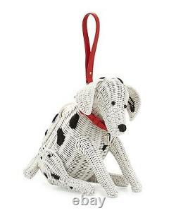 Kate Spade New York Rose Colored Glasses Wicker Dalmatian Dog Bag, Nwt Rare