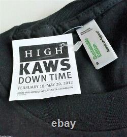 Kaws'down Time (continuez À Bouger)' T-shirt Exposition Vintage S S Sérigraphie Rare Nouveau