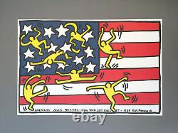 Keith Haring'new York City Ballet' Rare Original Affiche D'impression 1988 Avec Coa