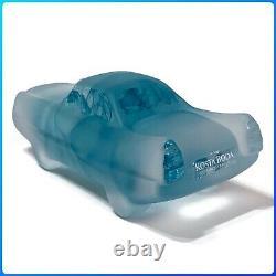Kosta Boda Art Glass Car-toons Cadillac Brozen Rare Vintage Collecte / Nib
